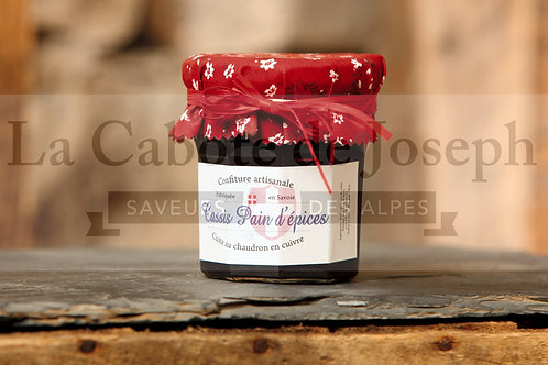 Confiture artisanale de cassis / pain d'épices (375gr)