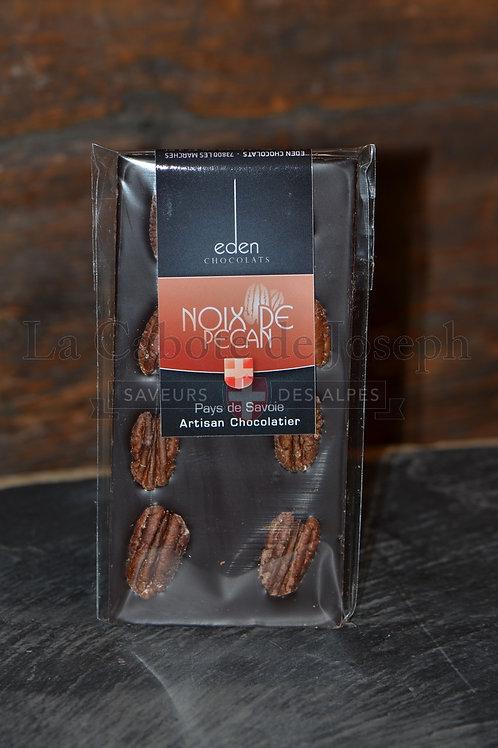 Tablette de chocolat noir noix de pécan