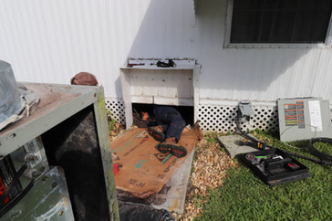 Tearing Out an Old Unit and Duct