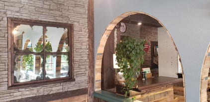 Vintage mirror and archway
