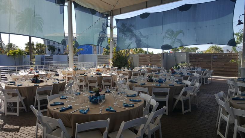 Banquet set up on St. Armand's venue.
