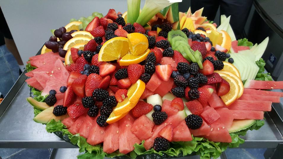 Stunning fruit salad display.