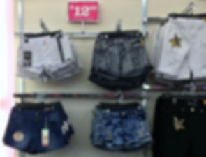 Fallas Stores Women's Fashion Shorts with rips and tears for $12.99