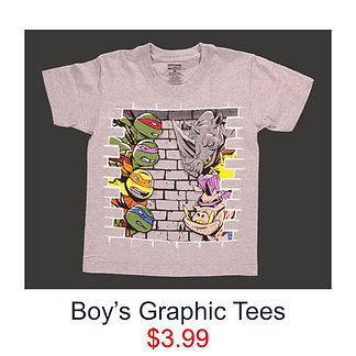 $3.99 Teenage Mutant Ninja Turtle T-Shirt for boys
