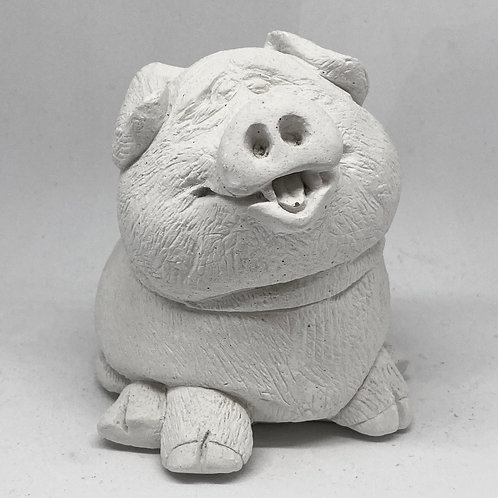 CartoonRound Pig