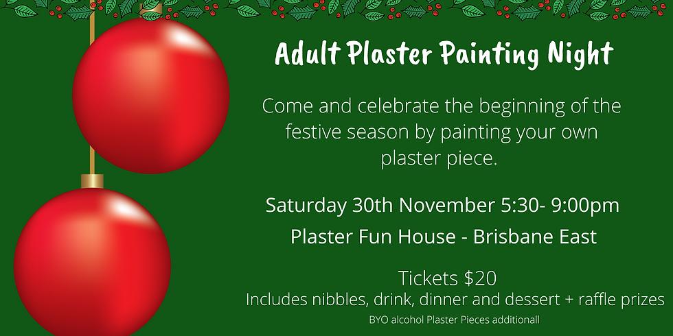 Adult Plaster Painting Christmas Night