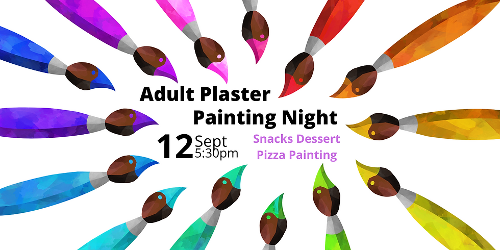 Adults  Plaster Painting Night - September 2020