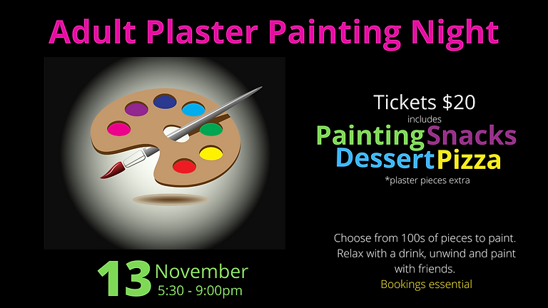 November Adult Plaster Painting Night