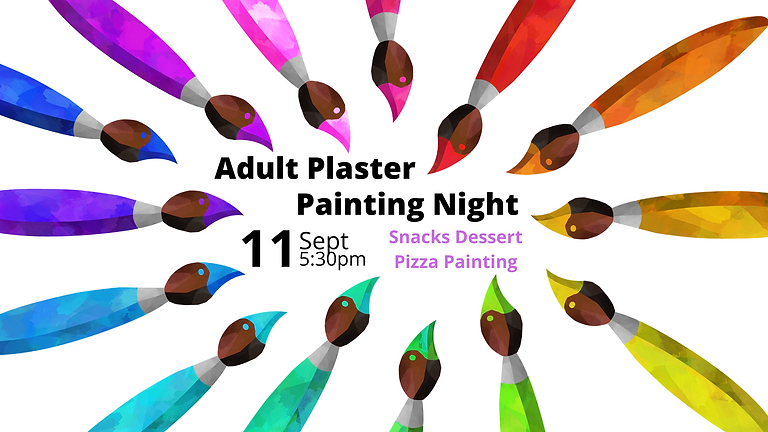 September Adult Plaster Painting Night