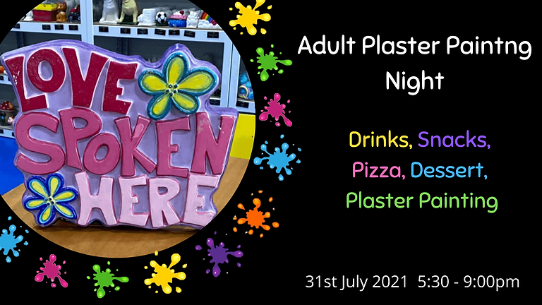 July Adult Plaster Painting Night