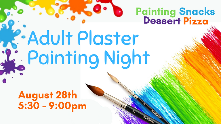 August Adult Plaster Painting Night