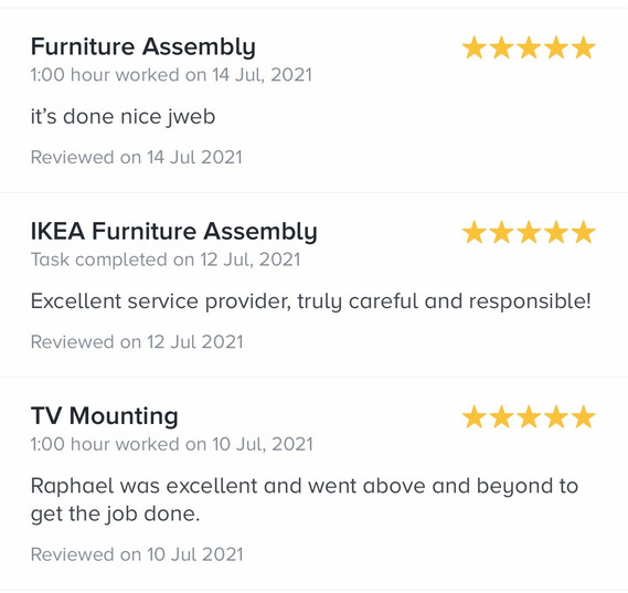 18. reviews by task rabbit