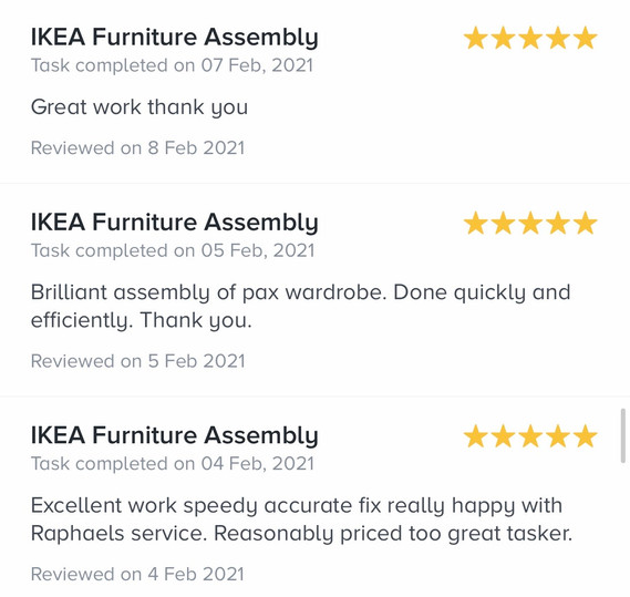 7. reviews by task rabbit