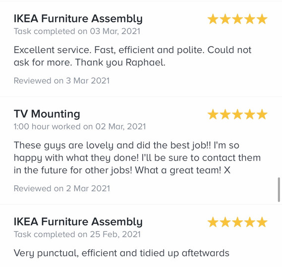 10. reviews by task rabbit