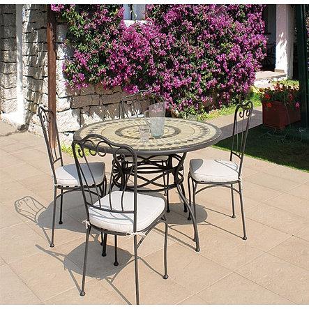 Arredamento da esterni e mobili da giardino for Tavolo tondo estensibile
