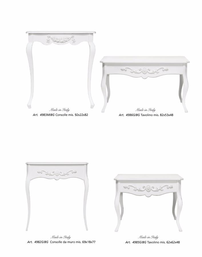 tavolino e consolle shabby