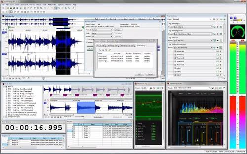 Interface do Sony Sound Forge    7 melhores softwares de edição de áudio