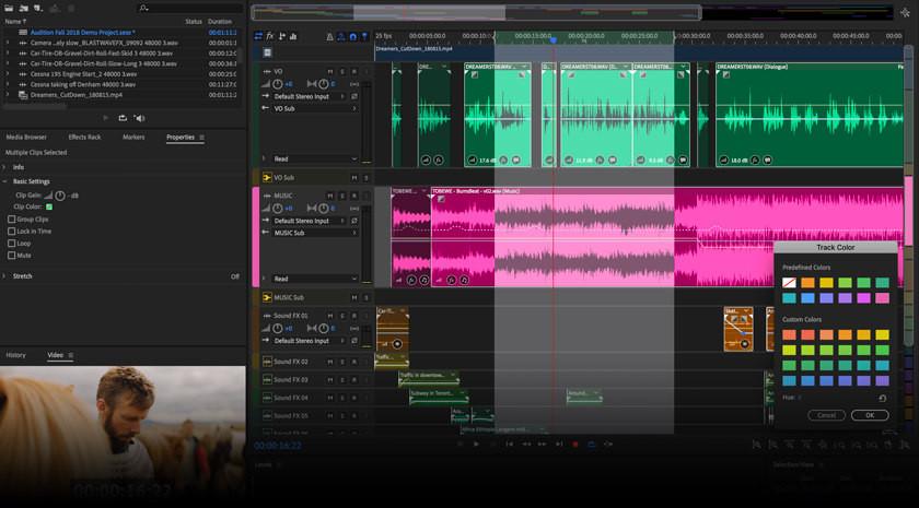 Interface do Adobe Audition   7 melhores softwares de edição de áudio