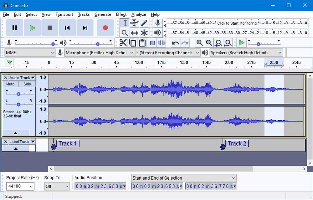 Interface do Audacity   7 melhores softwares de edição de áudio