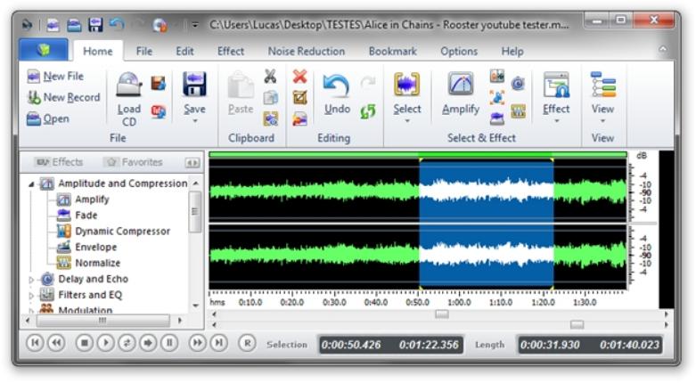 Interface do Power Sound Editor Free   7 melhores softwares de edição de áudio