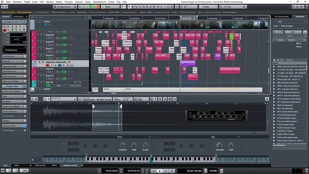 Interface do Nuendo   7 melhores softwares de edição de áudio