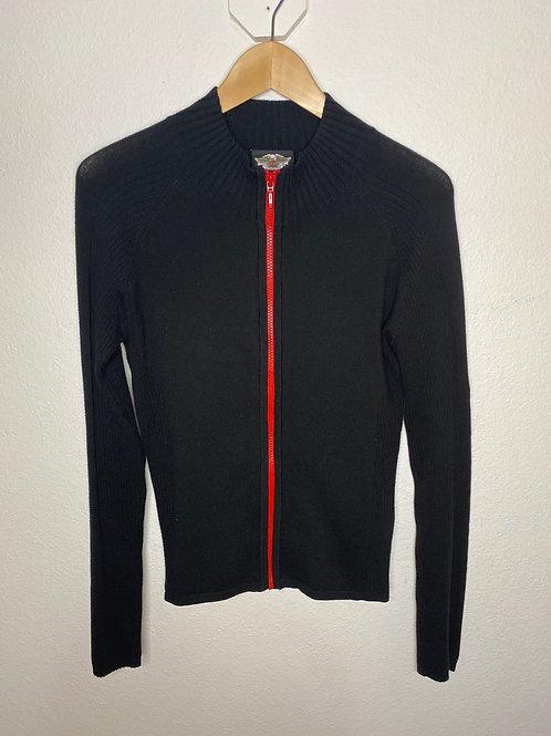Harley Davidson- Zip Up Knit Jacket- (WOMENS) Small