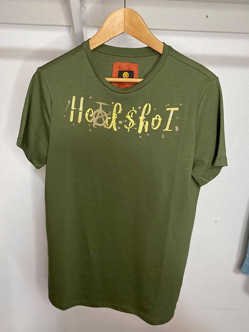 Headshot Goldie Font Tee