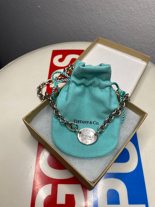 Tiffany & Co- Please Return to Tiffany Oval Tag Choker- 16'