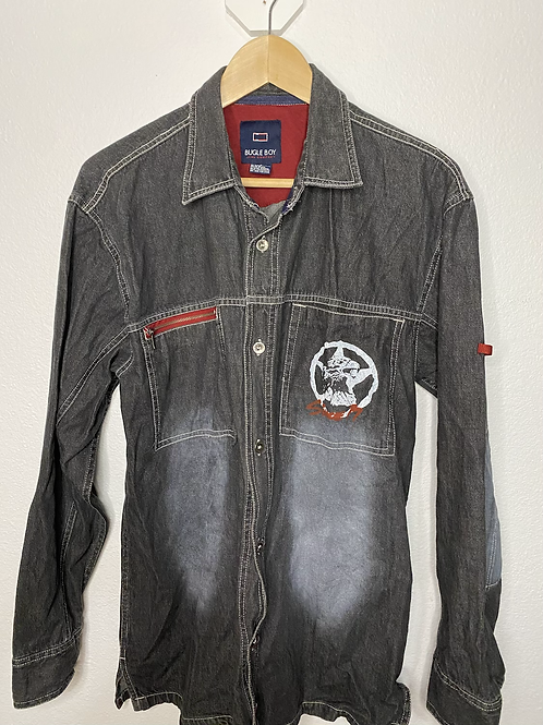 Bugle Boy Jean Company- Vintage Denim Button Up- Medium