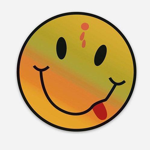 Holographic Headshot Logo Sticker 3x3