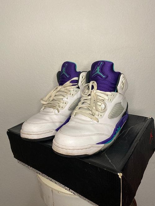 Nike Air Jordan- Emerald Grape 5- Size: 10.5