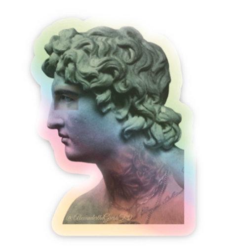 Statue Holographic Die cut sticker '1.5 X 2'