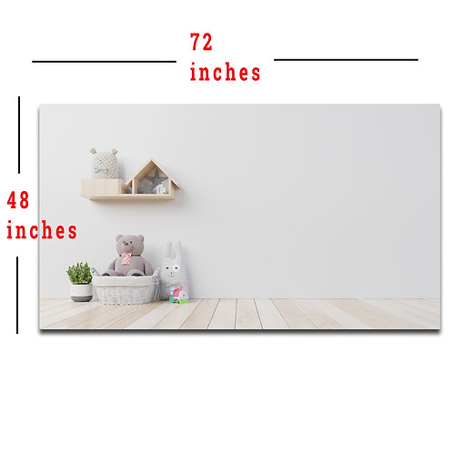 """48X72"""" House Shelf and Bear Backdrop, Meeting and Teaching Wall Background"""