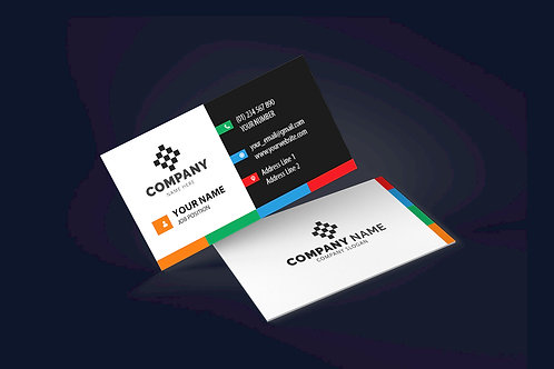25-1000 High Gloss UV Coated Business Cards, Multi-Colored Edge
