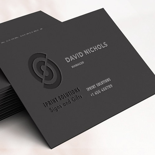 25-1000 High Gloss UV Laminated Black Business Cards