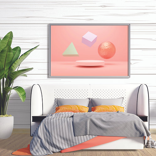 Minimalist Rose Quartz Background Gloss Poster