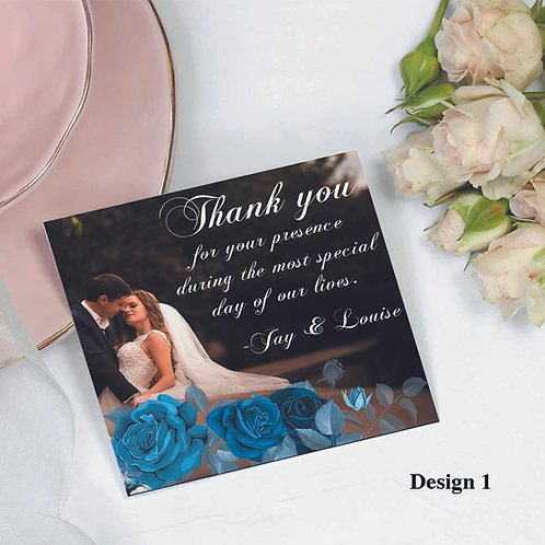 50 pcs Wedding Thank You Post Cards