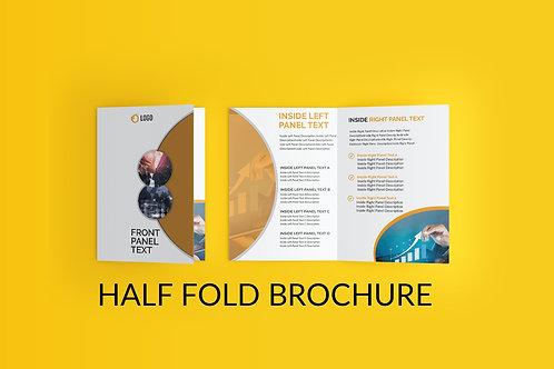 25-1000 BULK ORDER GLOSSY BI-FOLD BROCHURE MODERN BUSINESS DESIGN