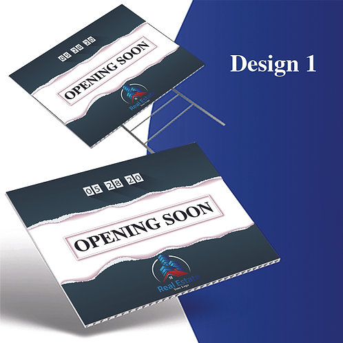 Opening Soon Yard Sign, Board Sign with Stand
