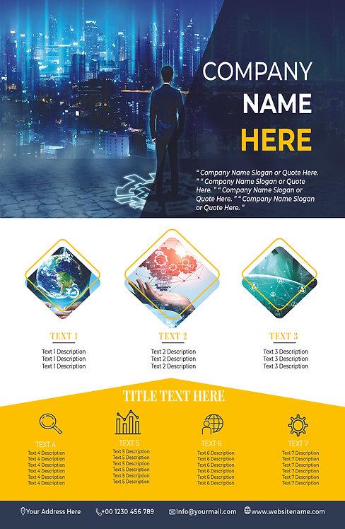 25-1000 High Gloss Business Flyer, 8.5X11 Financial Innovation Design