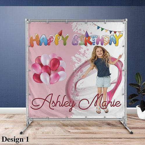 Birthday Girl Vinyl Banner