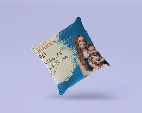Personalized Blue Pillow, Mother's Day Pillow, Birthday Gift