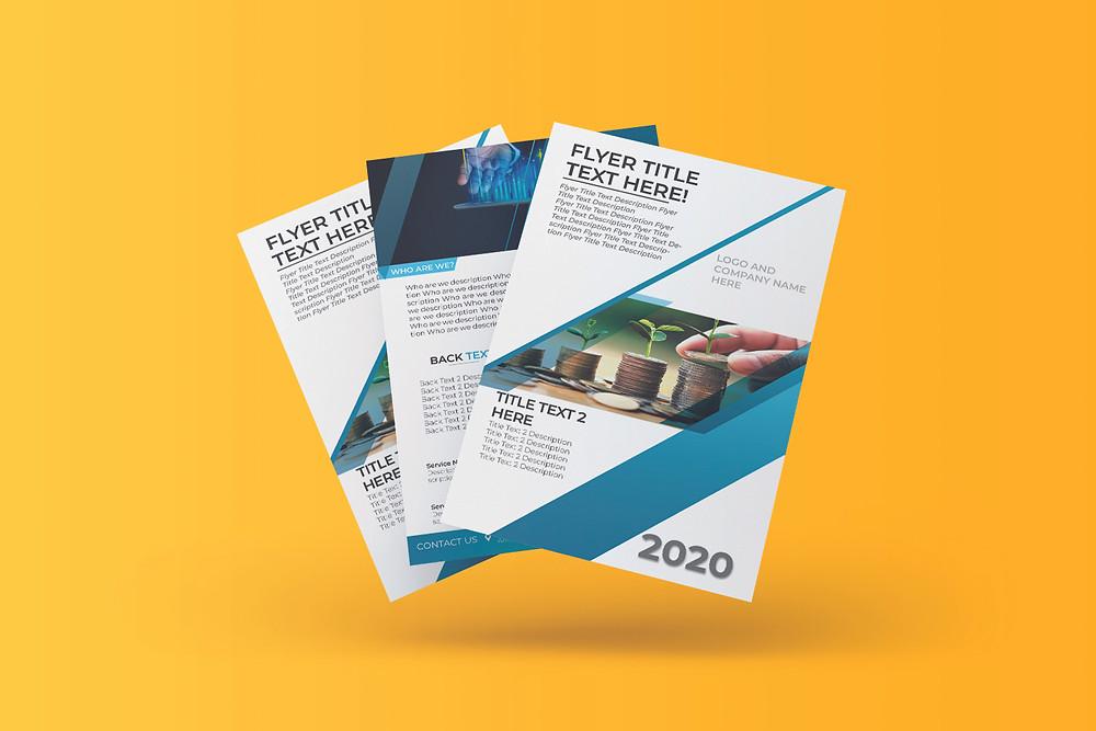 Custom design business flyer