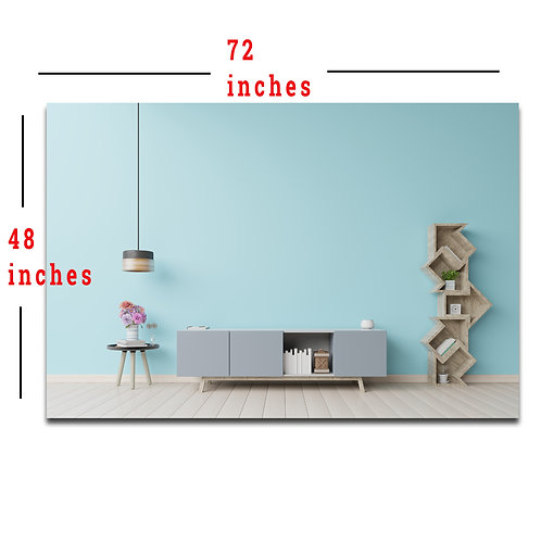 """48X72"""" Creative Shelves and Cabinet Backdrop, Meeting/Teaching Wall Background"""