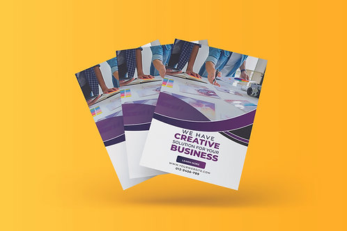 25-1000 Glossy Flyers 8.5X11-One Side Printed, Creative Designer's Solutions