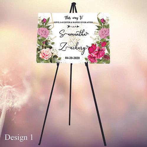 Wedding Signs, Wedding Foam Board, Wedding Signs Easel