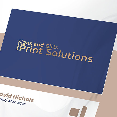 25-1000 Simple Blue High Gloss Business Cards