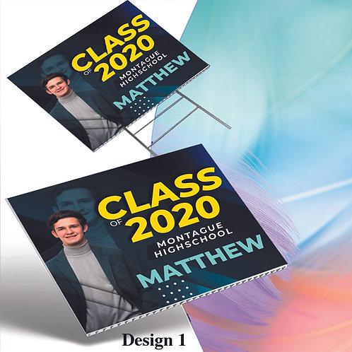 Graduation Yard Sign, Personalized Graduation Sign