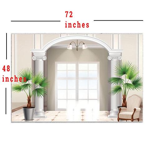 "48X72"" Elegant Toupe and White Background, Creative Backdrop"