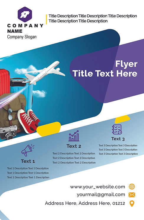 25-1000 High Gloss Business Flyer, 8.5X11 Modern Flyer Design